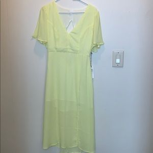 Leith Midi Yellow Polka dot Dress